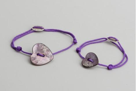 Pour toi & moi : Bracelets duo de nacre