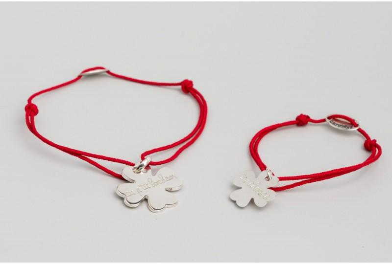 Bracelet duo trèfle