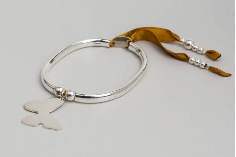 Bracelet Clémentine + papillon 2.7cm