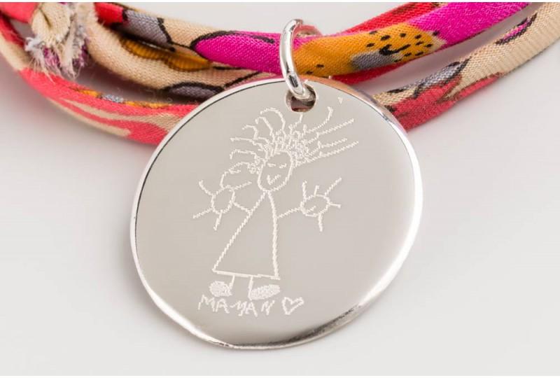 Bracelet Liberty médaille ronde