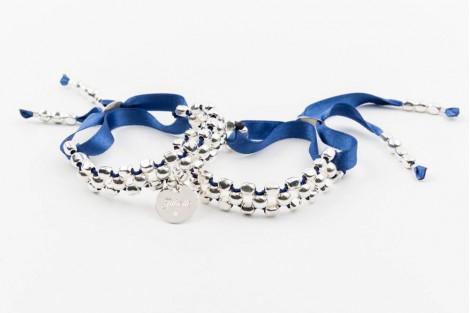 Bracelet gravé personnalisé mademoiselle en argent