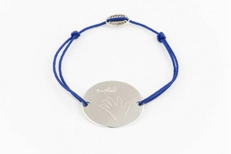 Bracelet gravé dessin médaille ovale