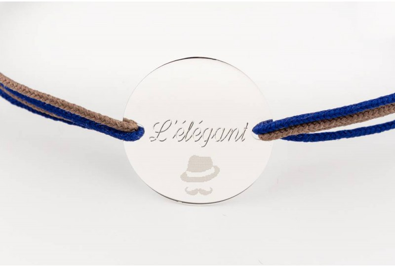 Bracelet personnalisé gravé pour homme