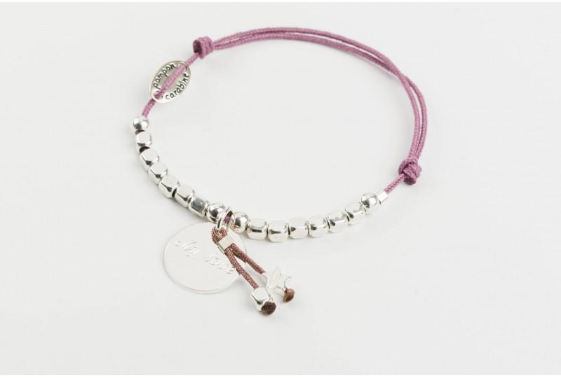 Voltige, bracelet étoile lien rose