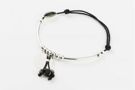 Voltige, bracelet papillon cristal noir