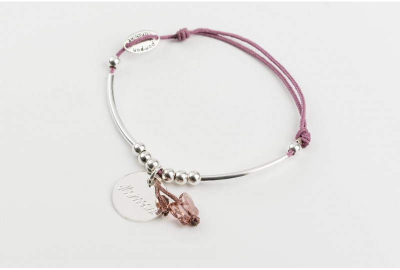 Voltige, bracelet papillon cristal poudré
