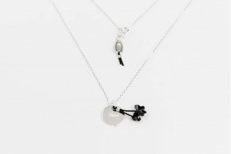Voltige papillon cristal noir Petit modèle