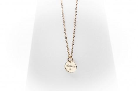 Collier Célestine mini médaille