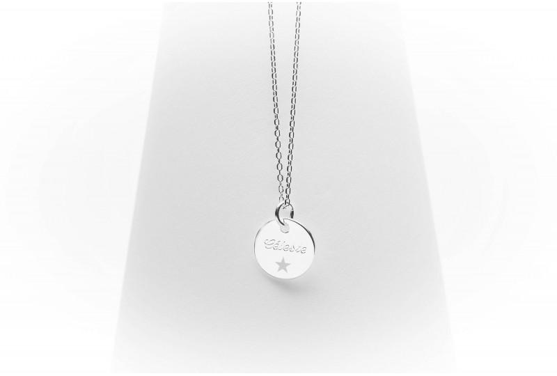 Collier Céleste petite médaille