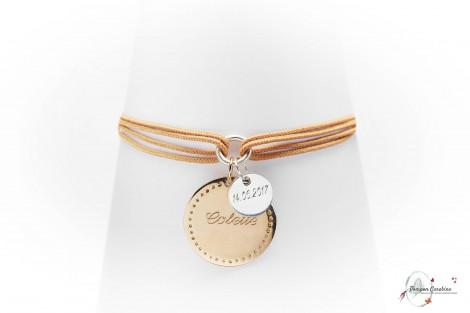 Bracelet Bonheur plaqué or GM Pompon Carabine