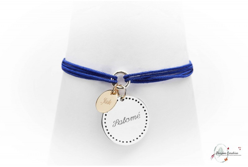 Bracelet gravé Bonheur argent GM