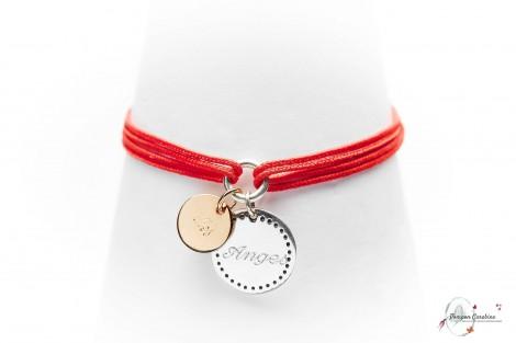 Bracelet Bonheur argent personnalisé