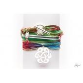 Bracelet demi-jonc Bohème et arabesque 2.7cm en argent