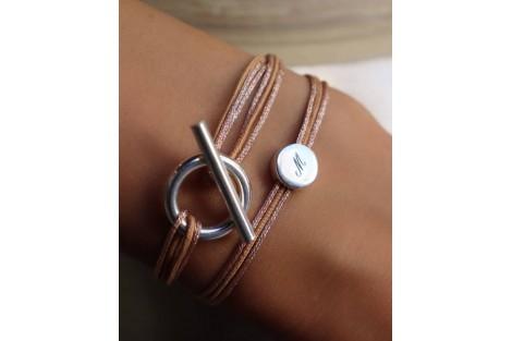 pépite bracelet gravé