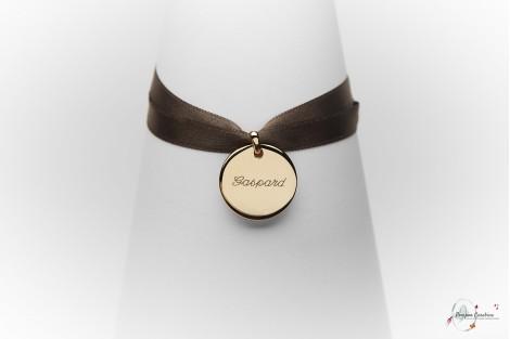 Bijoux gravés gravure bijou bracelet personnalisé Pompon Carabine