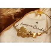Bracelet à personnaliser et graver nuage en argent ou plaqué or enfant et femme