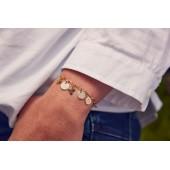 Bracelet chaine comptoir argent ou plaqué or à personnaliser