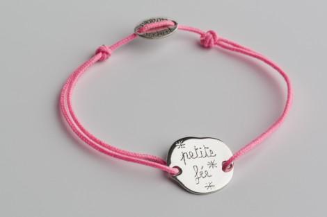 Bracelet  gravé petit galet