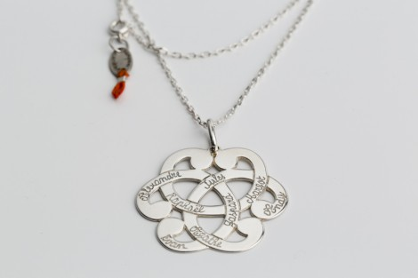 Collier argent avec médaille arabesque 4cm
