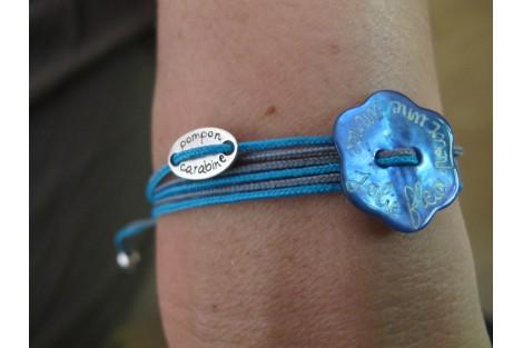 Bracelet Nacre sur liens multi tours