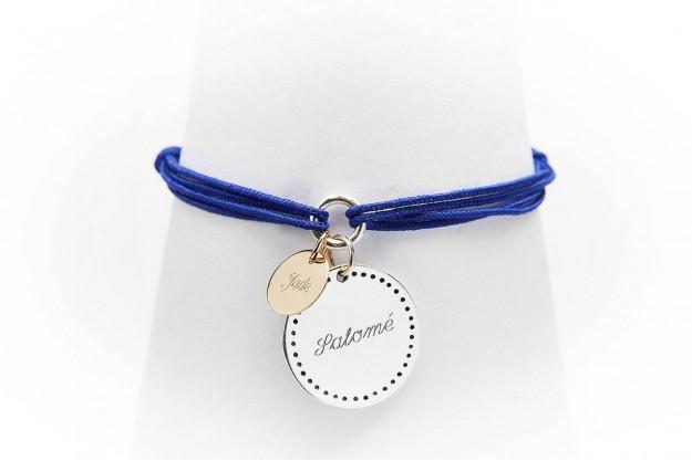 Bonheur - Bracelets médailles or et argent à graver