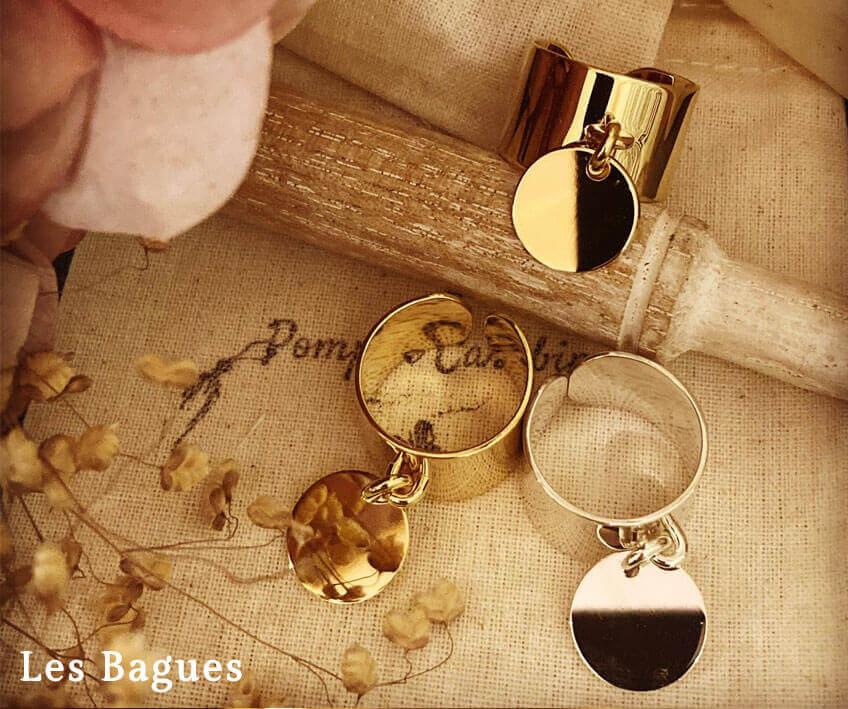 Bagues personnalisées et gravées argent et plaqué or